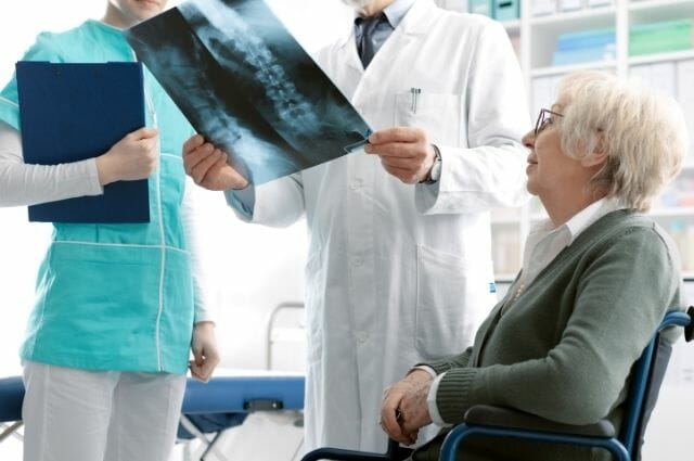 osteoporosis patient consultation with doctor