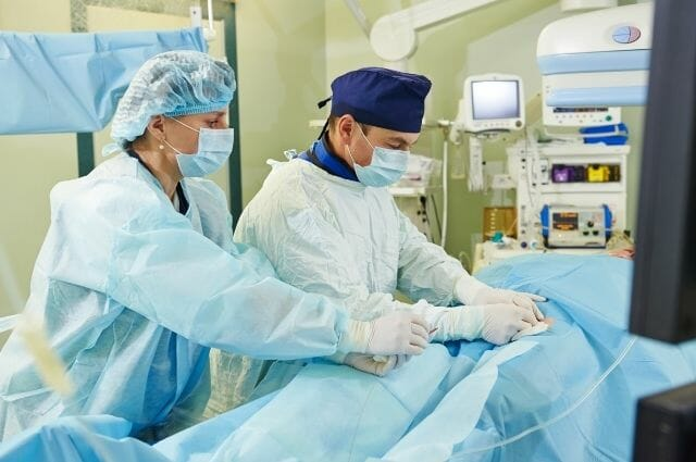 vascular surgeons during a vascular operation